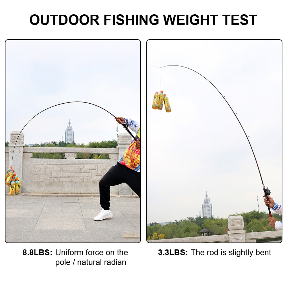 1.8M High Quality Spinning Pole Telescopic Portable Sea Fishing Rod Rotating Carp Fishing Reel Equipment Fishing Tackle enlarge