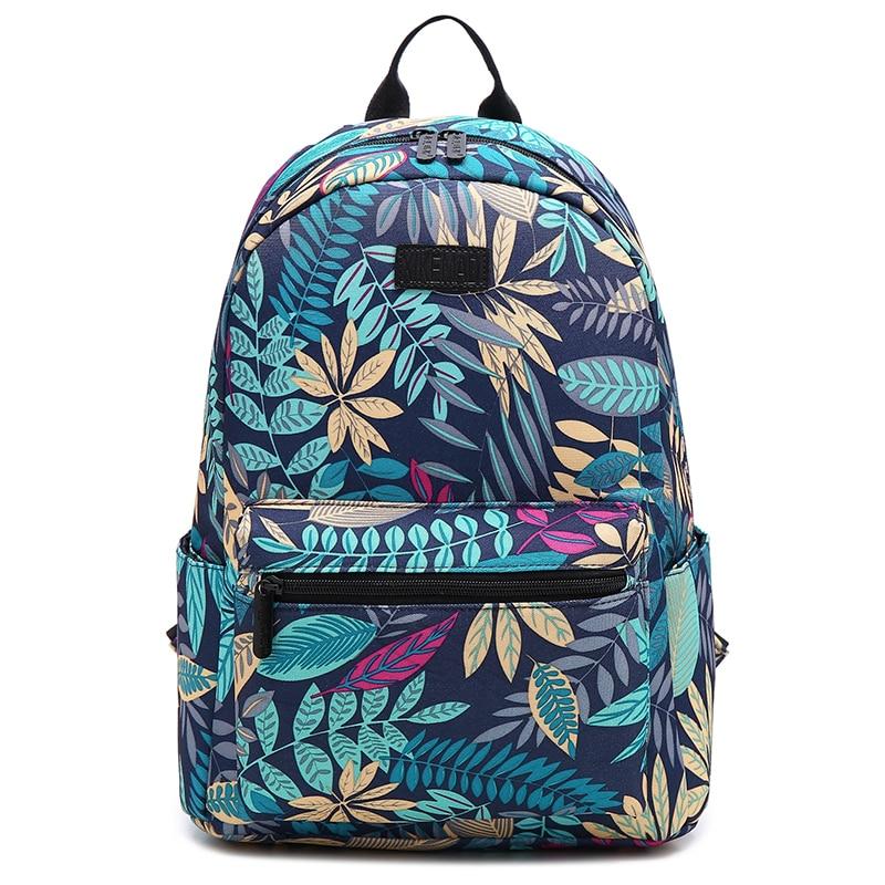 Школьные рюкзаки для девочек 2019 рюкзаки для ноутбука с принтом листьев большая Вместительная дорожная сумка прочная Mochila Mujer Feminina Sac A Dos
