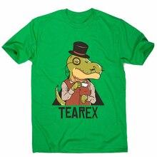 Tearex dinosaurio-Camiseta divertida Premium para hombre Harajuku Tops Camiseta clásica de moda