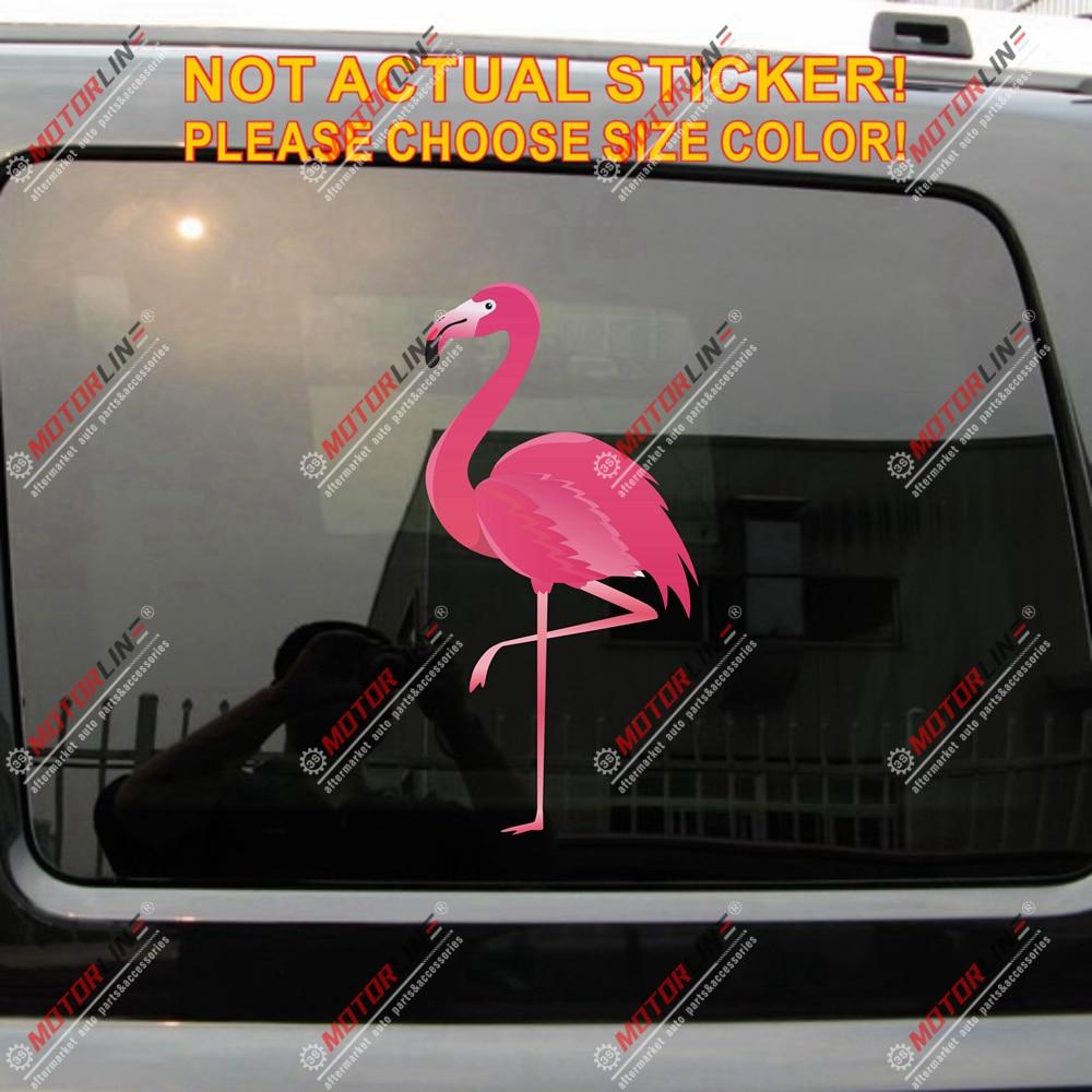 Pink Flamingo Bird Decal Sticker Car Vinyl reflective glossy Florida Hawaii