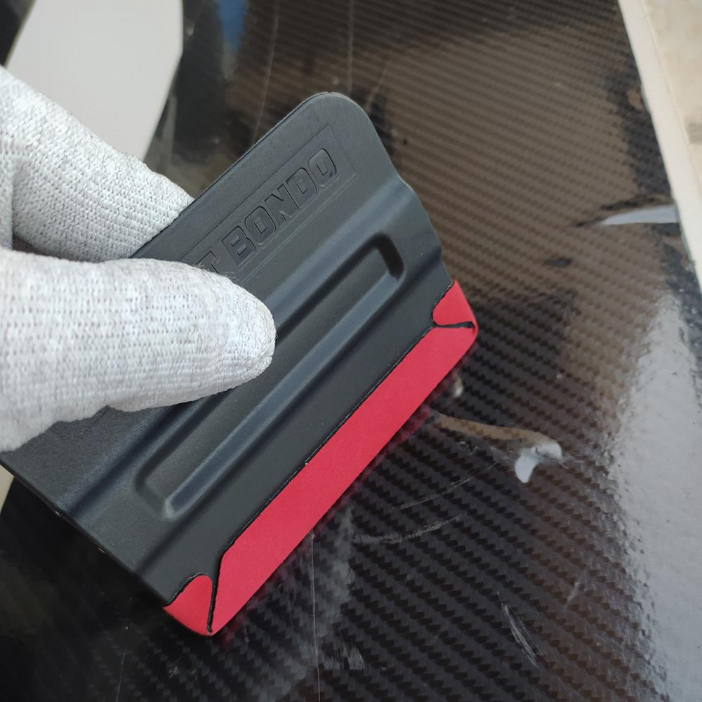 5Ps Carbon Fiber Film Magnetic Squeegee Vinyl Car Wrap Window Tint Magnet Scraper with Scratch-free Suede Felt Car Wrapping A10C enlarge