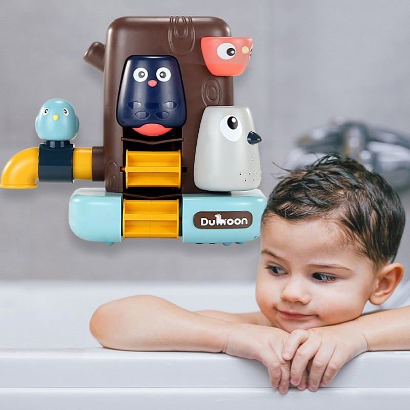 LazyChild Bath Toys Pipeline Water Spray Shower Game Elephant Bath Baby Toy For Children Swimming Bathing Shower Kids Toy baby bath toys duck clockwork educational toys swim bathing kids water swimming chain shower toy gift for newborn baby wholesale