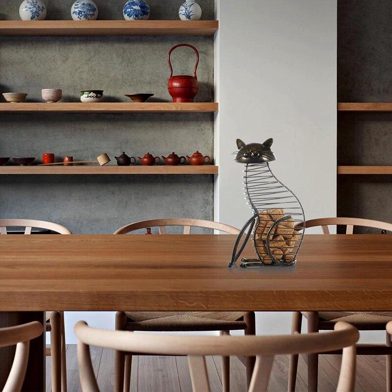 Recipiente de Metal para vino o vino de estilo moderno, artesanía de hierro forjado, regalo, miniaccesorios de decoración para el hogar de animales artificiales
