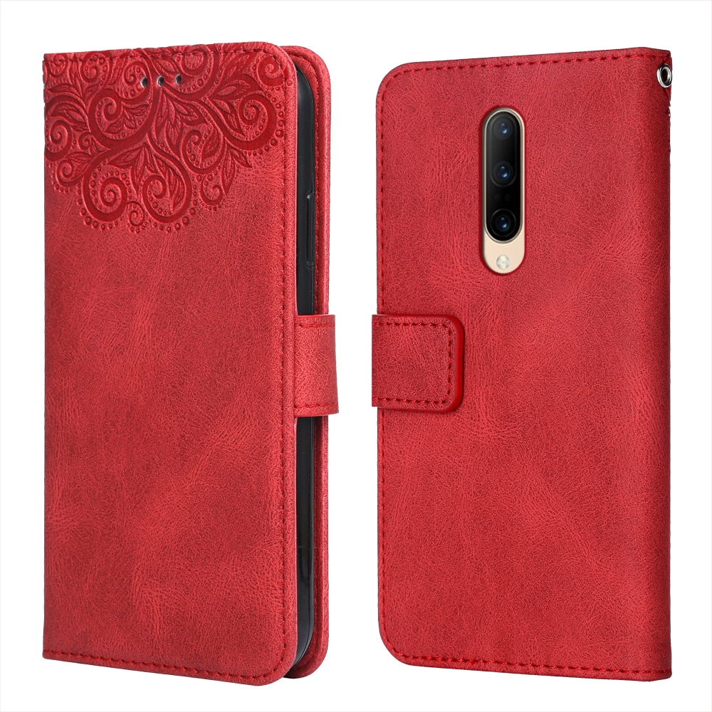 Luxury Leather Case for OnePlus 7 Pro 5G Flower Embossing Wallet Flip Phone Case for OnePlus7 Pro 5