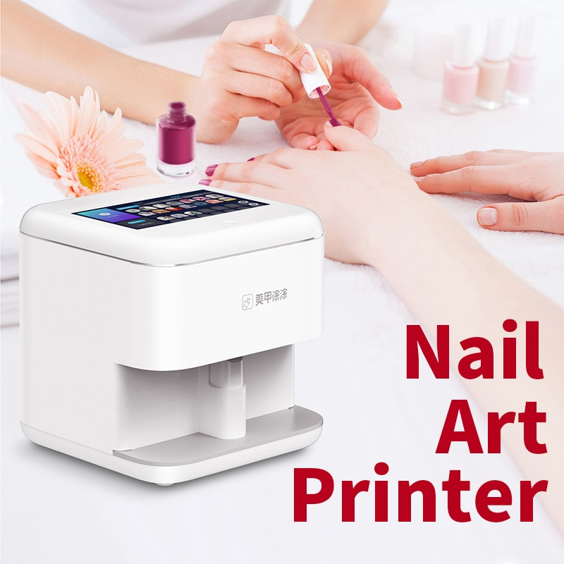 Máquina impresora de uñas Anjou, equipo de impresión Digital inteligente 3D para Nail Art, máquina de impresión antomática DIY