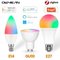 Zigbee 3 0 Tuya GU10 E27 E14 Intelligent LED Projecteur Ampoule Compatible Philips Hue Smartthings Vie Intelligente Alexa Assistant A Domicile