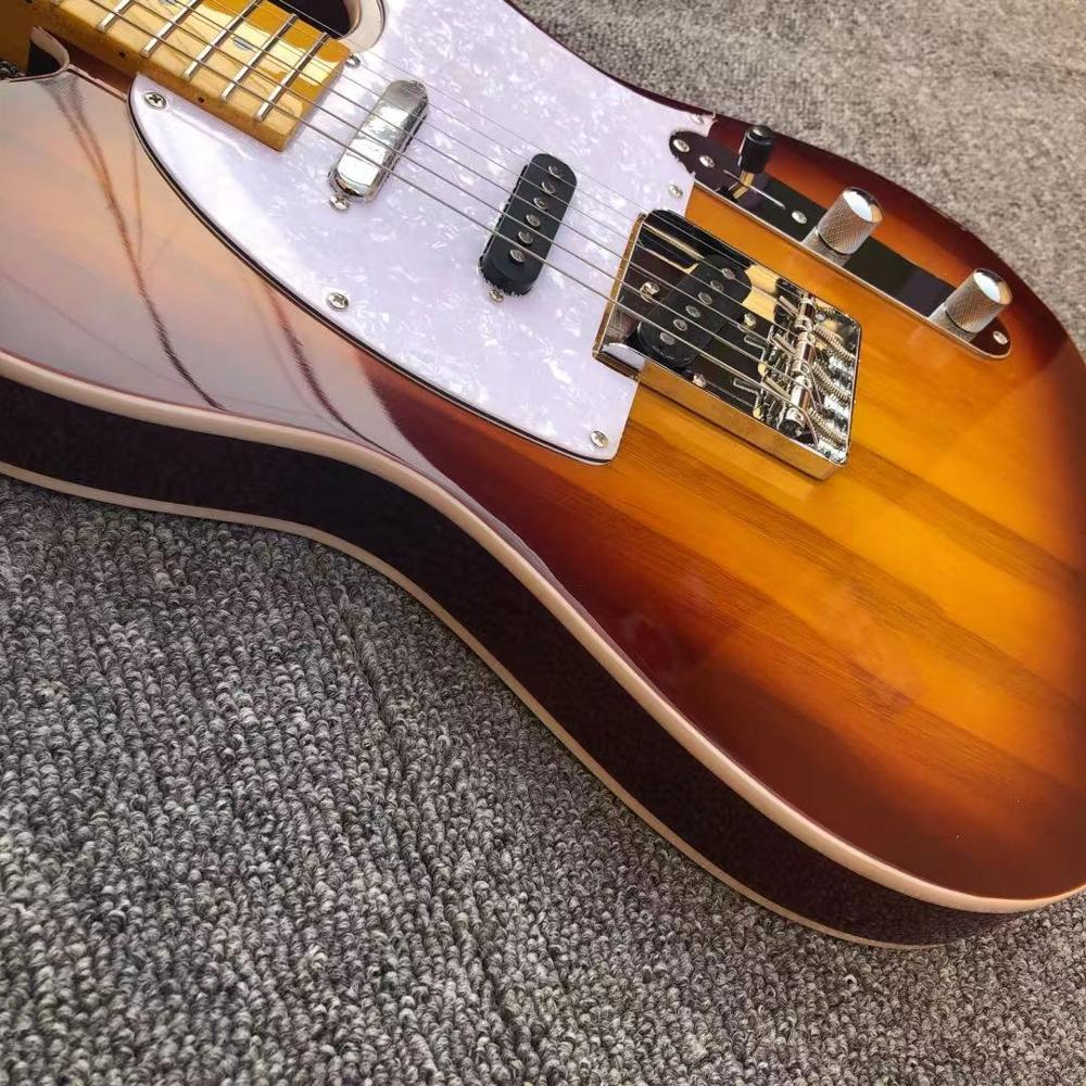 Tele Electric Guitar Swam Ash Sunburst Wax Potted SSS pickups 22 frets maple,Daddario strings,Canada GRAPH TECH Nut, enlarge