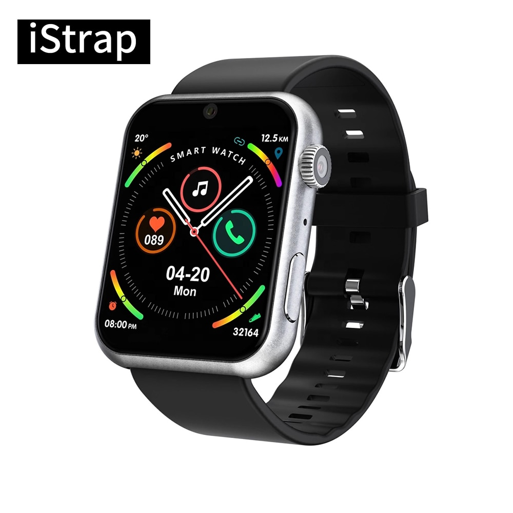 iStrap Heart Rate Blood Pressure Monitor Smart Watch Men Women 1.78'' With Weather Push Music Control Call Smartwatch