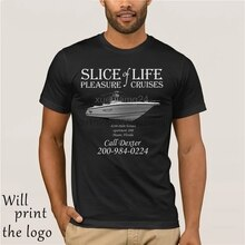 Dexter inspired slice of life pleasure cruises t-shirt Morgan 100% cotton short sleeve T-shirts interesting t-shirt