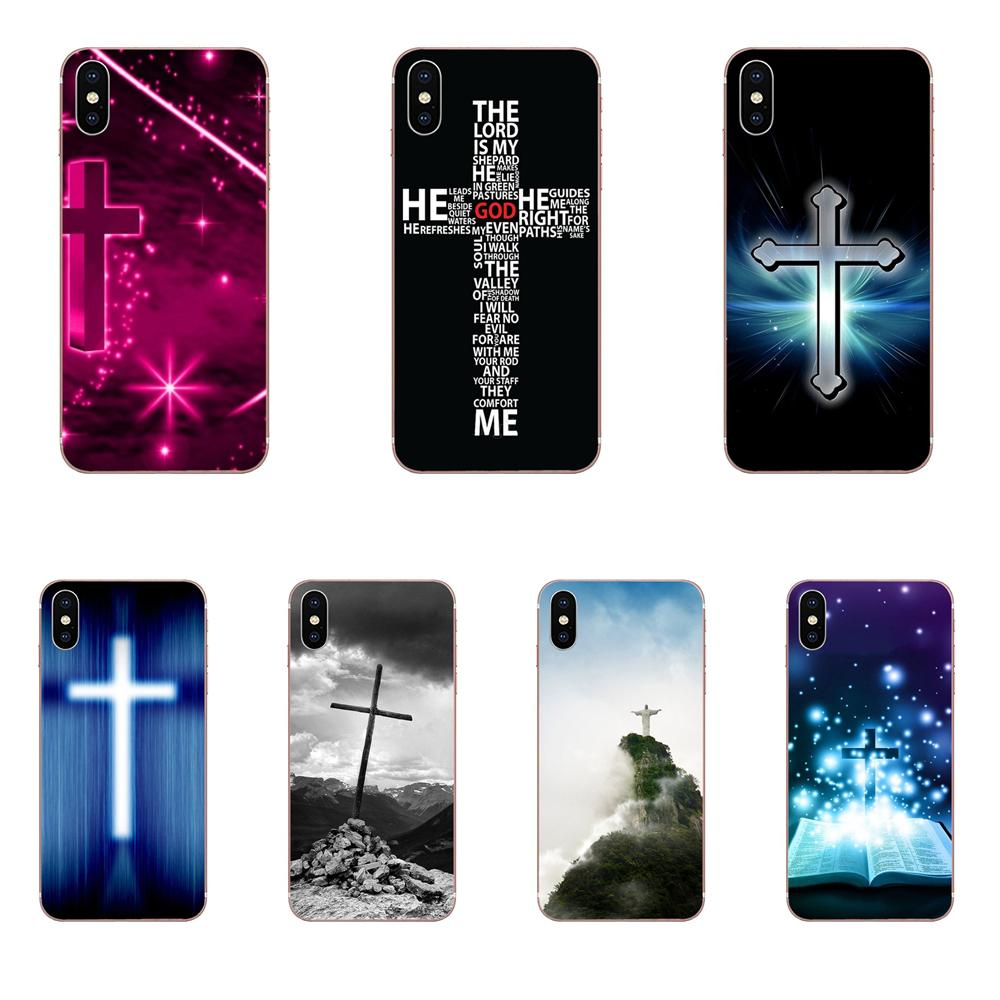 Para Galaxy Grand A3, A5, A7, A8, A9, A9S, On5, On7 Plus, Pro Star 2015, 2016, 2017, 2018, piel suave, fe, Jesús, cruz cristiana