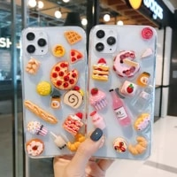 ins 3d delicious food phone case for iphone 11 12pro max x xs xr max 7 8plus fashion creative pattern protect cover accessories