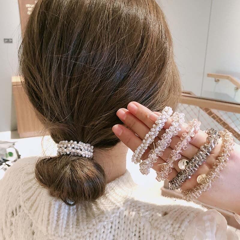 Lazos de acrílico para el pelo para niña, cuentas de diamantes de...