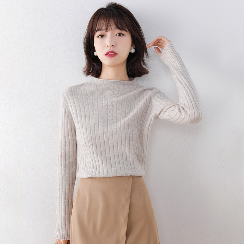 adohon 2020 woman winter 100% Cashmere sweaters and autumn knitted Pullovers High Quality Warm Female thickening Turtleneck enlarge