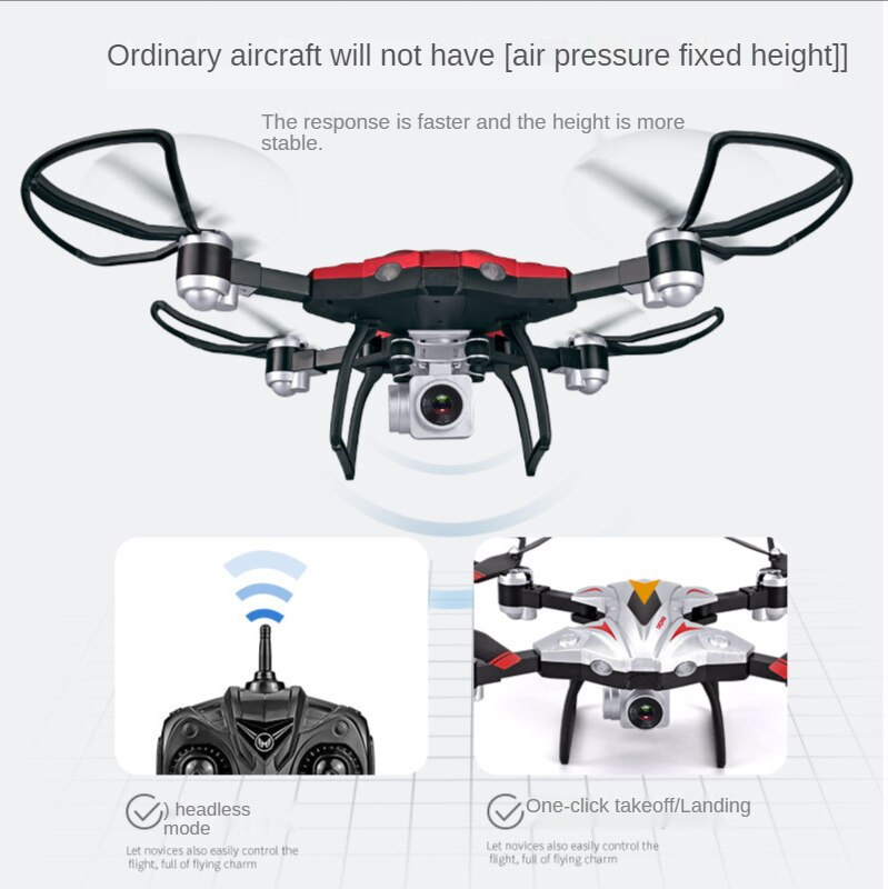 New Quadcopter fixed height folding aircraft aerial photography HIGH-DEFINITION 4K drone remote control helicopter boy toys enlarge