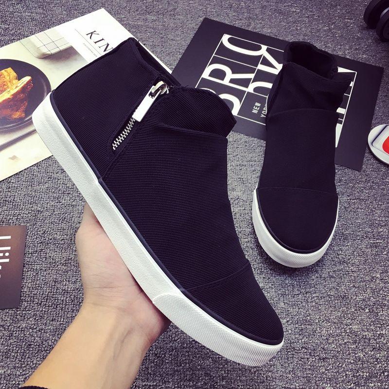 حذاء قماش عالية الجودة رجل النسخة الكورية أحذية رياضية الفتيان ins أحذية رياضية مريحة الذكور المدربين الموضة الكلاسيكية