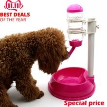 Bouteille automatique daliments pour animaux   Distributeur deau pour animaux domestiques de 500ml buveur support réglable bouteille dalimentation détachable bol pour animaux domestiques, accessoires pour chien et chat
