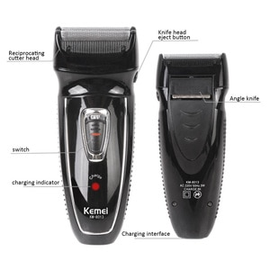 KEMEI 2 Heads Electric Shaver Rechargeable Reciprocating Electronic Shaving Machine Rotary Hair Trimmer Face Care Razor KM-8013