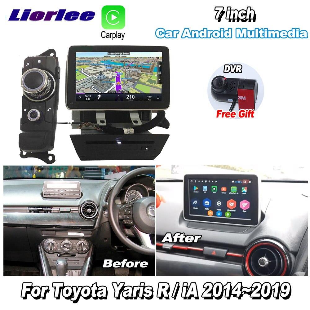 Liorlee для Toyota Yaris R / iA 2014 ~ 2019 автомобильный Android Carplay GPS Navi карты Навигация DVD CD плеер Радио стерео Мультимедиа
