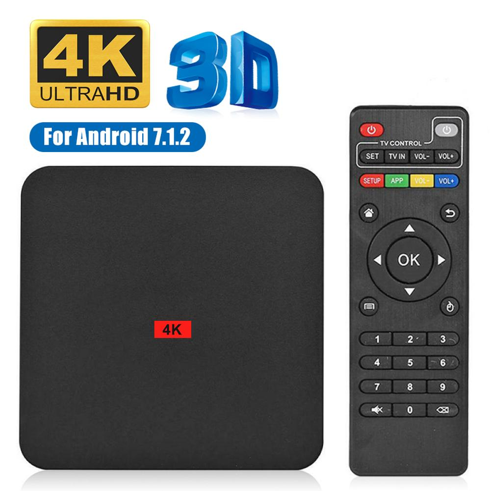 New 4K Android tv box Android 7.1 OS Smart tv Google Voice Assistant Youtube Media player 2.4g WiFi 1GB 8GB Set Top Box 2020