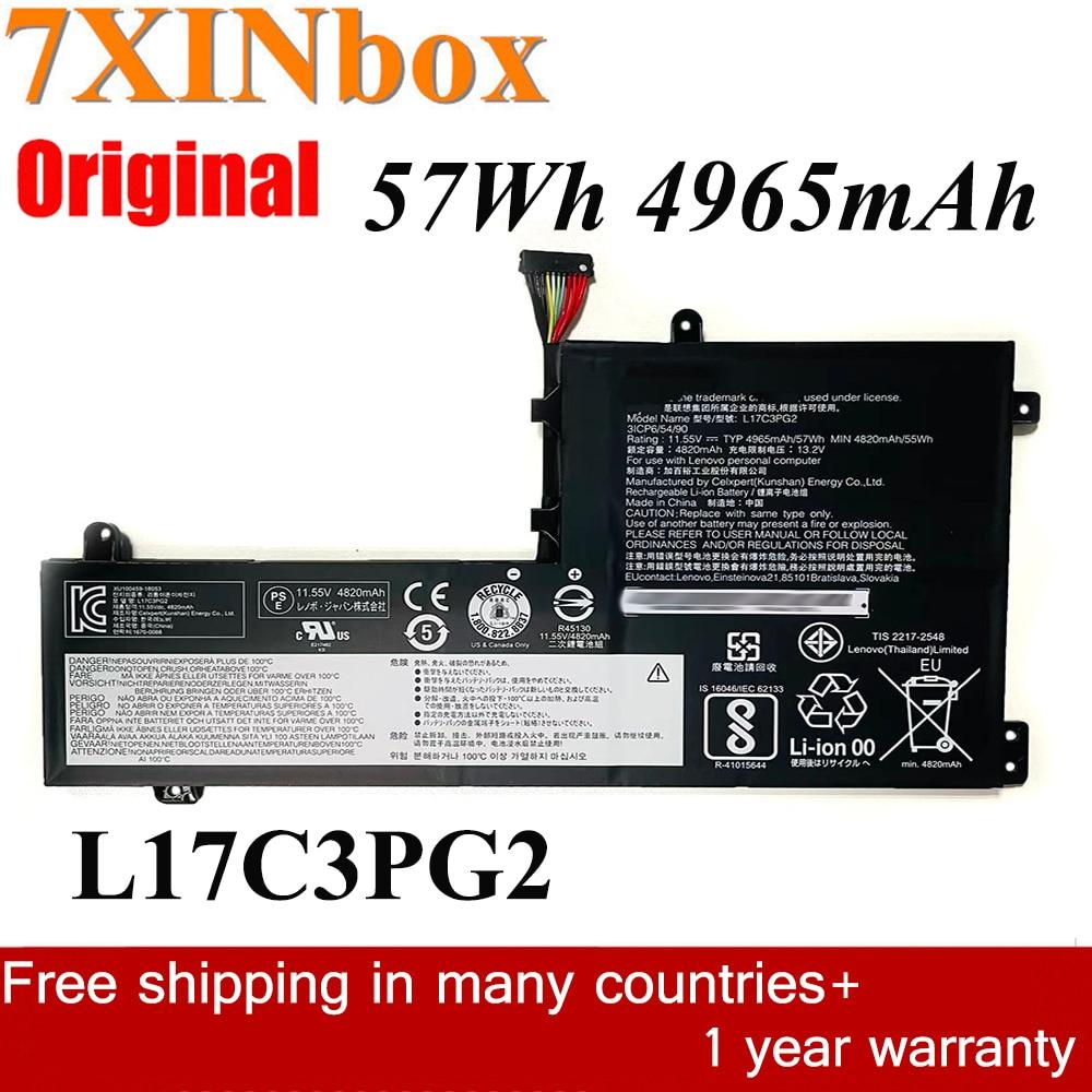 7XINbox 11.55V 57Wh 4965mAh L17C3PG2 L17M3PG1 الأصلي بطارية كمبيوتر محمول لينوفو الفيلق Y530 Y540-15IRH Y7000 Y7000P Y7000P-2019