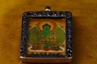 2tibet temple old bronze gilt silver thangka big day tathagata buddha statue medicine buddha amulet pendant town house exorcism