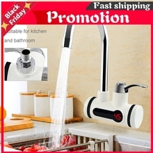 Electric Hot Water Heater Faucet Instant Tankless Kitchen Instant Heating Tap Water Heater with LED