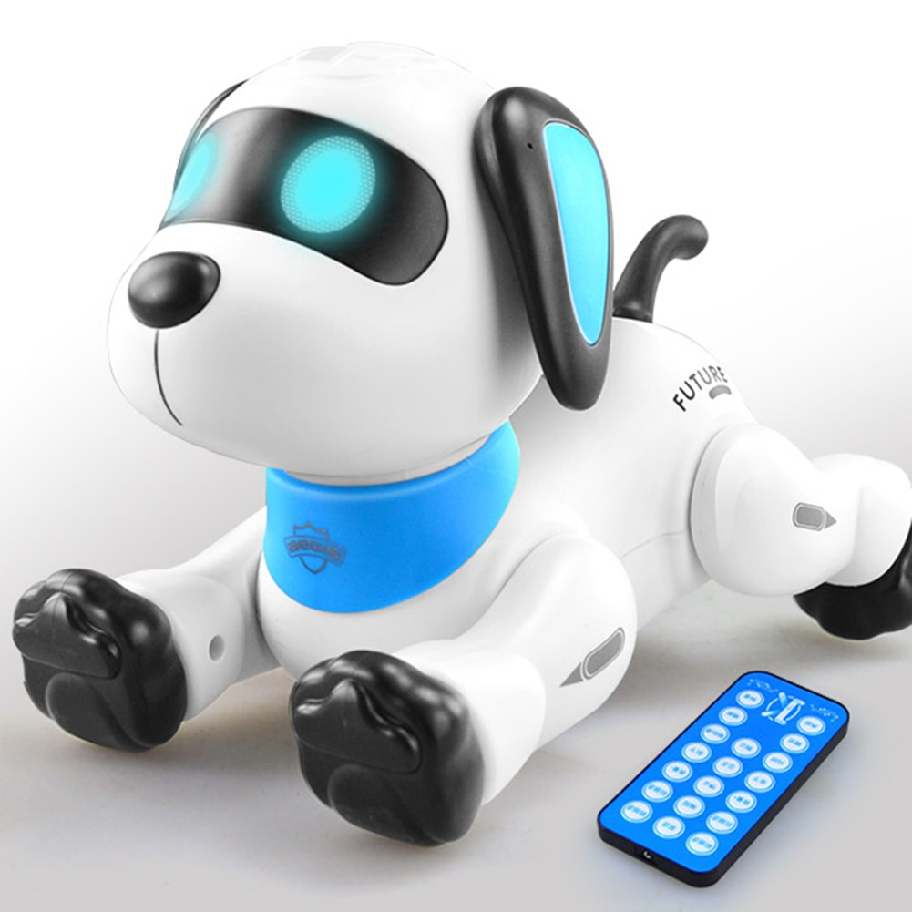 Фото - Smart Talking RC Robot Dog Walk & Dance Interactive Pet Puppy Robot Dog Remote Voice Control Intelligent Toy For Kids smart wifi talking interactive dialogue voice recognition record robot singing dancing telling story mini intelligent robot kids