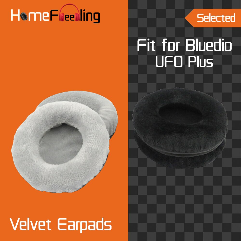 Homefeeling Earpads for Bluedio UFO Plus Headphones Earpad Cushions Covers Velvet Ear Pad Replacement