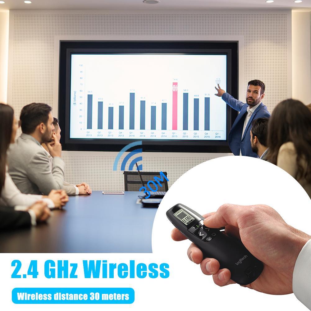 R800 2,4 GHz управление PPT беспроводной ведущий с зеленой лазерной указкой ручка ЖК-дисплей экран Радиоуправление расстояние 30 м