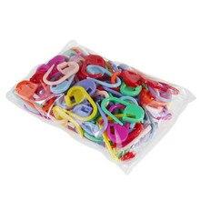 Çok fonksiyonlu kullanışlı 50 adet plastik İşaretleyiciler tutucu iğne klip zanaat 50 adet Mix Mini örgü tığ kilitleme dikiş