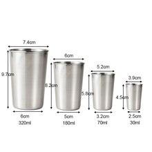 1 Pcs 새로운 스테인레스 스틸 금속 맥주 컵 와인 컵 커피 텀블러 차 우유 머그잔 홈 30 Ml/70 Ml/180 Ml/320 Ml