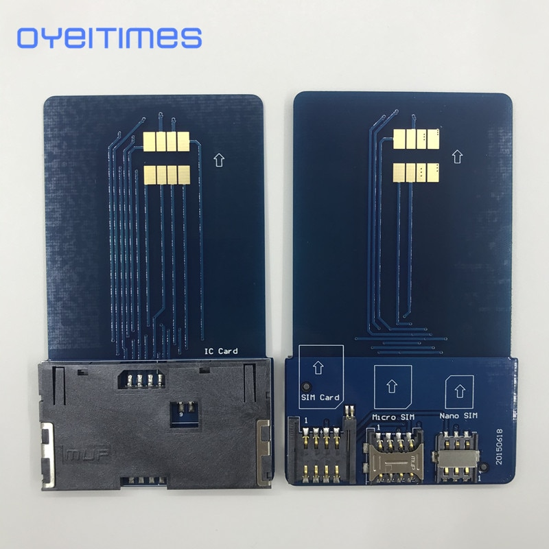 OYEITIMES SIM Card Pinboard Adapter Converter SIM Card Smart IC Card Extension for Mini Micro Nano 2FF/3FF/4FF SIM Card