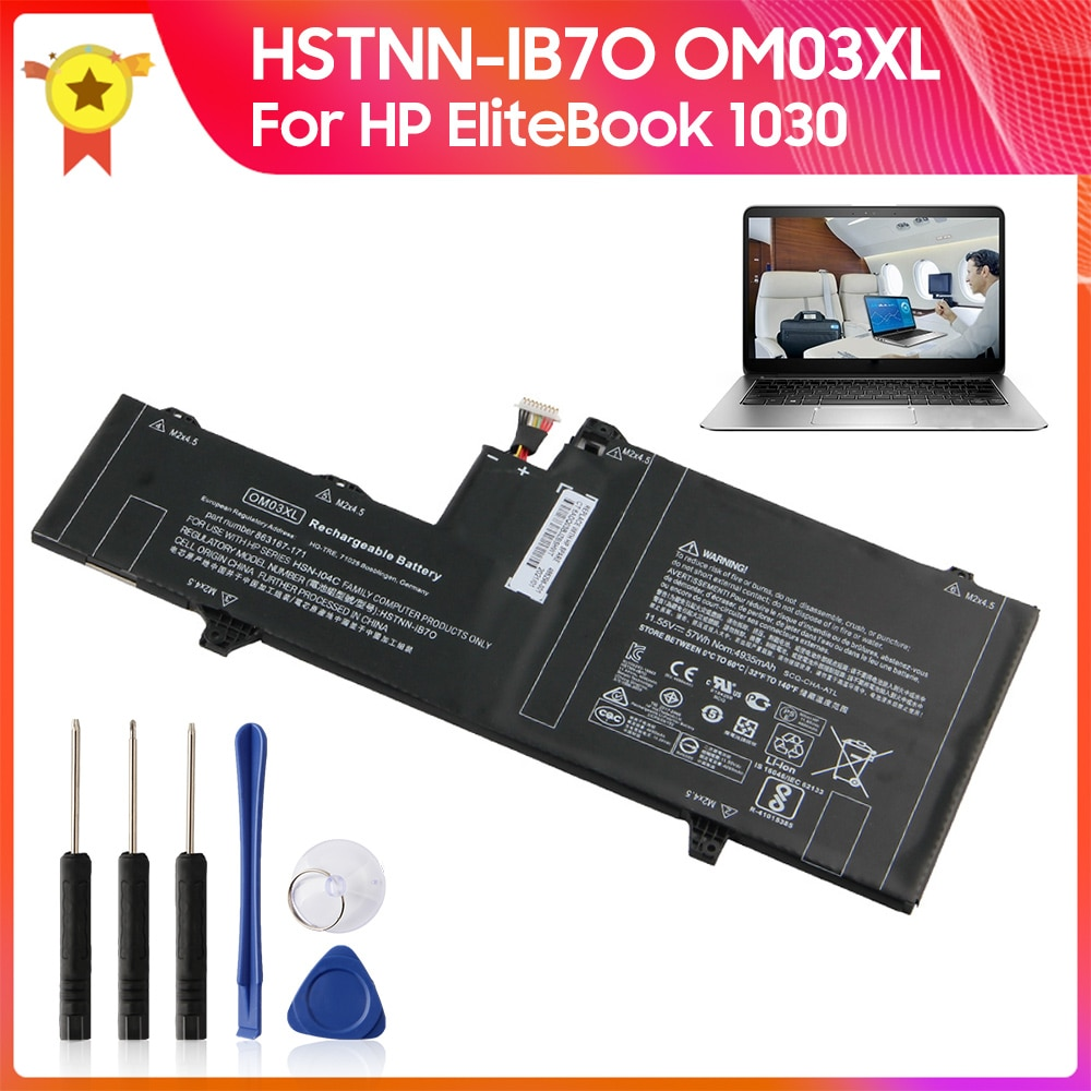 original 15 2v 76wh original battery for tdw5p series laptop Original Replacement Battery OM03XL HSTNN-IB7O for HP EliteBook 1GY31PA G2 1030 Laptop Battery 3400mAh +tools