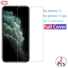 Screen Protector Protective Glass For Iphone 11 Pro Max Case Cover On i Phone Mas Max Tempered Glass
