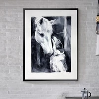 hand painted animals horse posters canvas wall art paintings decorative animals prints posters prints for living room home decor