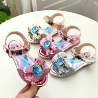 2021 frozen disney princess children casual shoes high quality cute girls sandals leisure solid patchwork kids shoes toddlers