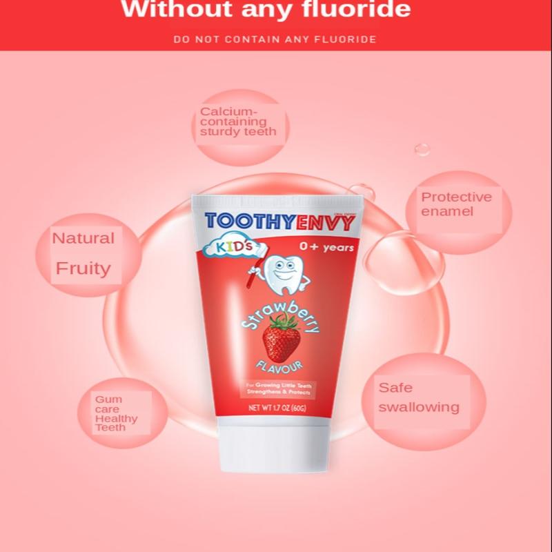 Зубная паста от tooth yenvy UK, зубная паста для детей, зубная паста без фторида, зубная паста подходит для десен, для детей, 60 г