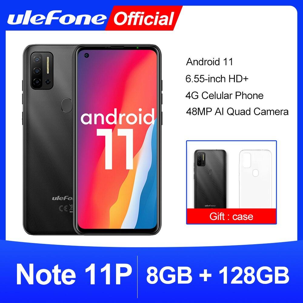 Ulefone-Smartphone Note 11P con Android 11, 8GB + 128GB, 4G-LTE, desbloqueado, visión...