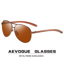 AEVOGUE hommes Vision nocturne lunettes de soleil polarisées Anti-éblouissement conduite unisexe pilote lunettes de soleil marque concepteur UV400 AE0875