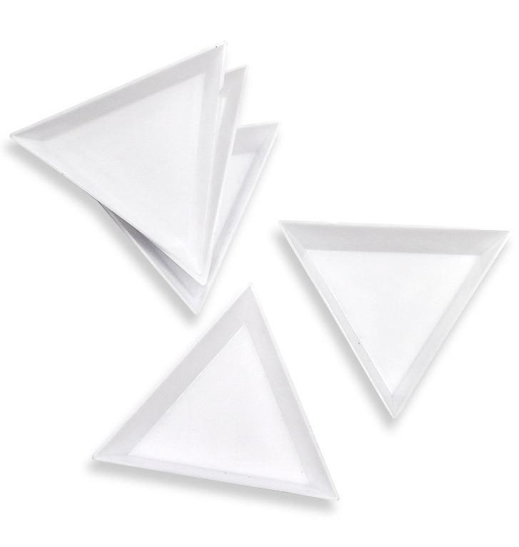 Recipiente para strass arte decora armazenamento gemas glitter vazio triângulo strass contas fatias compartimentos placa