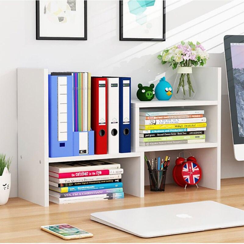 سطح المكتب رف الكتب حامل رف للتخزين رف الكتب على الطاولة الحديثة سطح المكتب خزانة توفير مساحة للطلاب الأطفال
