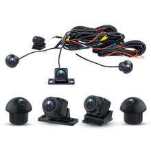 HD 3D 360 камера Автомобильная система наблюдения за птицами 4 камеры 360 720P SONY 225 тыловая/передняя/левая/правая 3D 360 камера для Android автомобильное ...