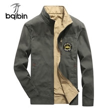 Spring Autumn New Military Jacket Men Double-wear High Quality Casual 100% Cotton Cargo Mens Jacket