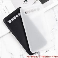 For Meizu 17 Silicon Cover Soft TPU Matte Black Phone Protector Shell For Meizu 17 Pro Capa Coque Ba