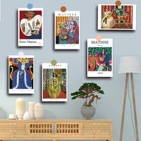 5 sets Pastoral Abstract Decoration Card Gift Wall Postcard Photo Frame Painting Wall sticker Home Aart Famous Abstract