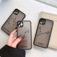 twelve constellations phone case for iphone 8 6s 7 plus se 2 x xr xs max cases for iphone 11 12 pro max mini hard pc back cover