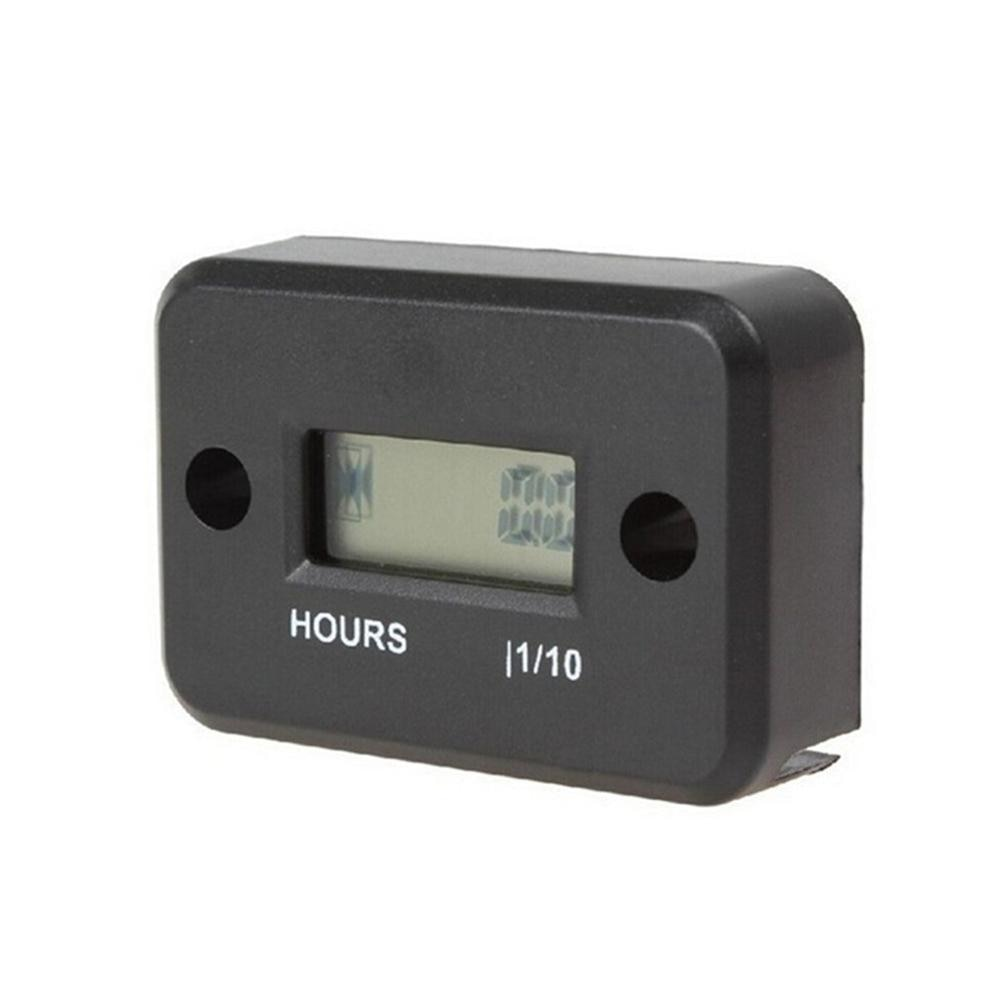 Motorcycle Hour Meter With Battery Timer Cafe Racer Digital Counter Moto Jet Ski Timer Accumulator Digital Working Gauge Tools