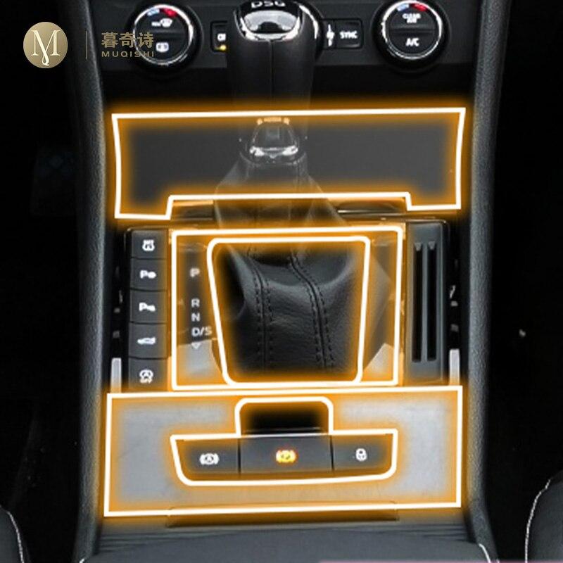 Para skoda superb 2016 -2019 capa de filme do painel do carro tpu protetor de tela shift painel capa protetora acessórios interiores 2018