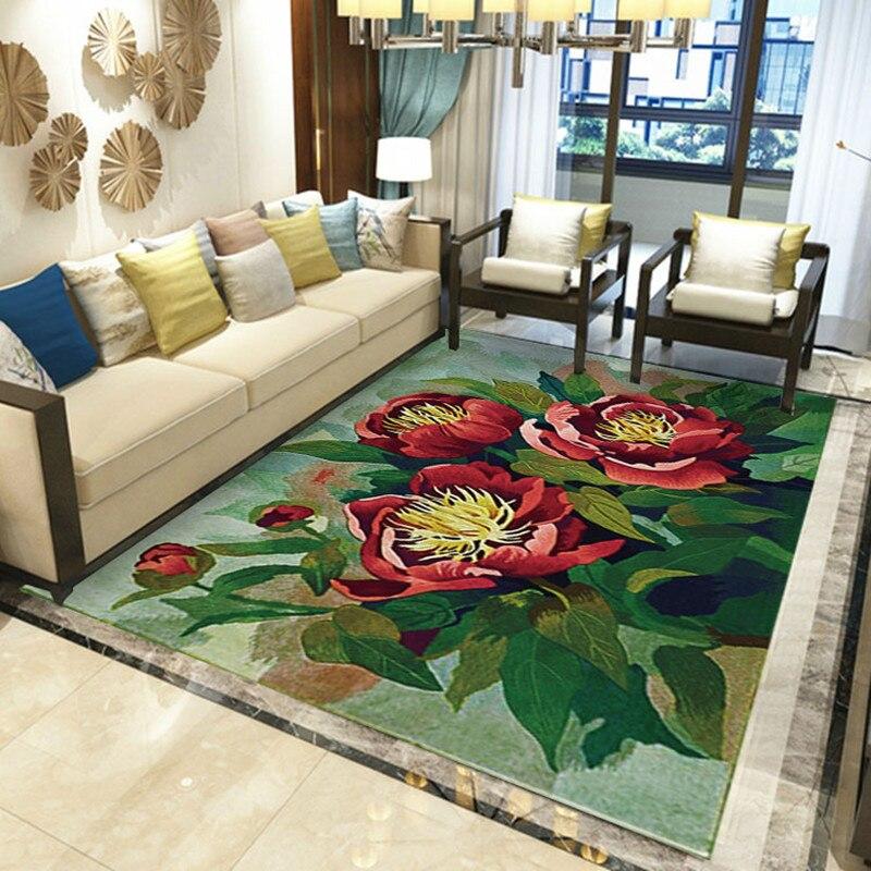 Kreative Garten Blume 3D Druck Flur Teppiche für Wohnzimmer Schlafzimmer Teppiche Küche Anti-Slip Boden Matte kinder geschenk