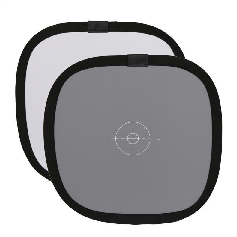 30cm 18% dobrável cinza cartão refletor equilíbrio branco dupla face placa de focagem com carry bag balance card r60